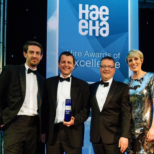 PRESS RELEASE: Seddons Plant Crowned Supplier Of The Year For The Hire Industry