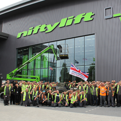 PRESS RELEASE: Staff From Niftylift Show Their Support For Armed Forces Day