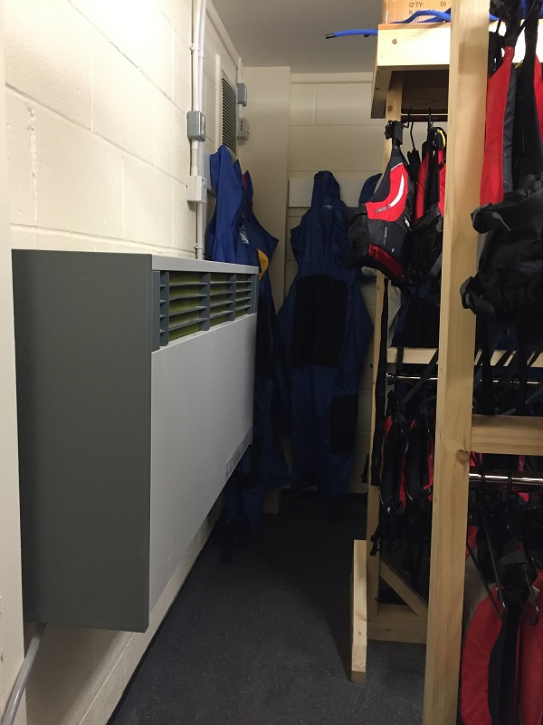 The Derwenthaugh Boat Station for Sea Cadets now has a Calorex dehumidifier in the drying room, to ensure the clothing and training equipment is kept in good condition.