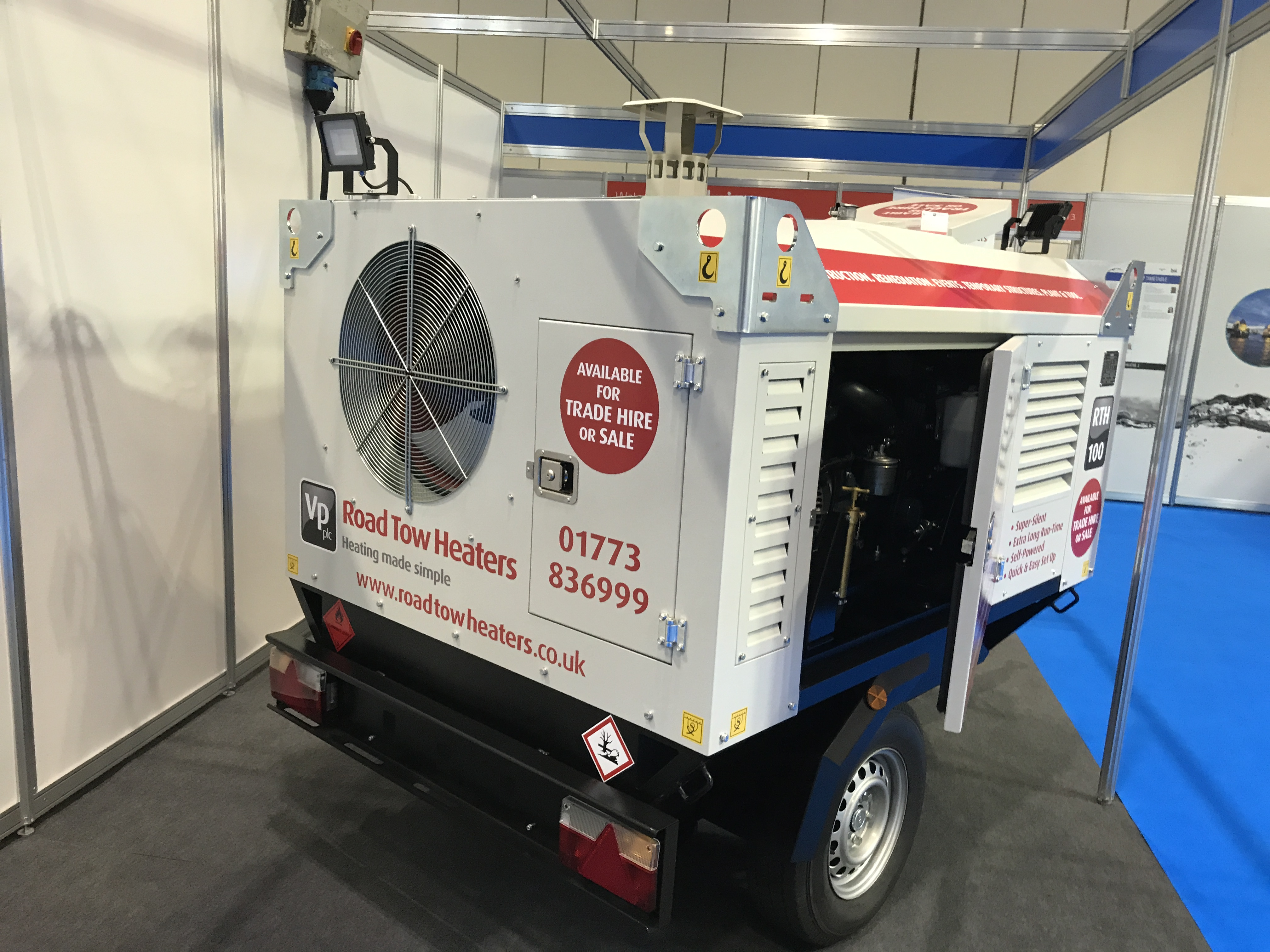 Arcotherm RT110 road tow heater prototype launched at Trade Fair & Convention