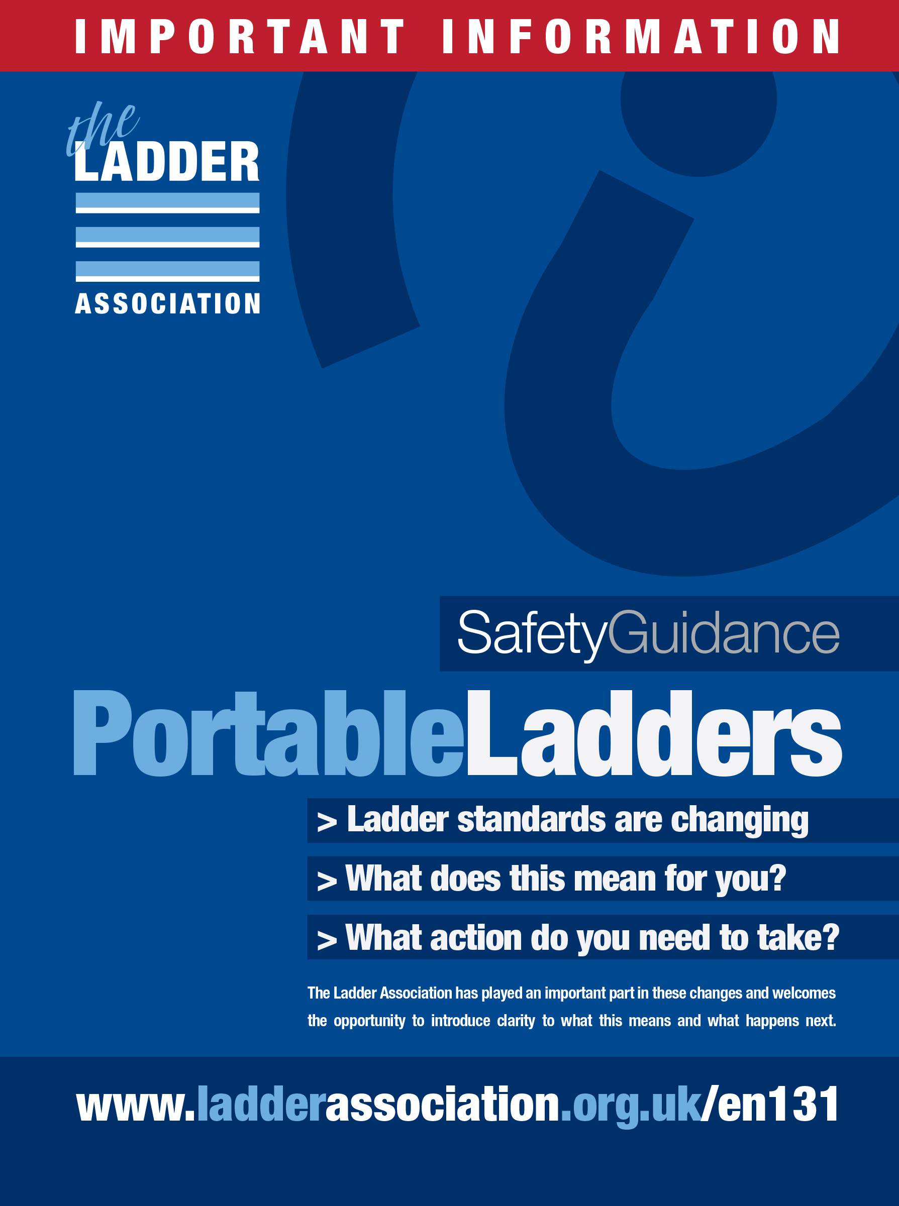 Ladder Association discussing changes to European and UK ladder standards at Trade Fair & Convention