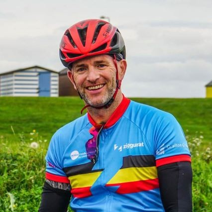 News Item: AFI's Brian Parker Takes On 3rd ZIGGURAT Bike Ride for the Construction and Built Environment Sector