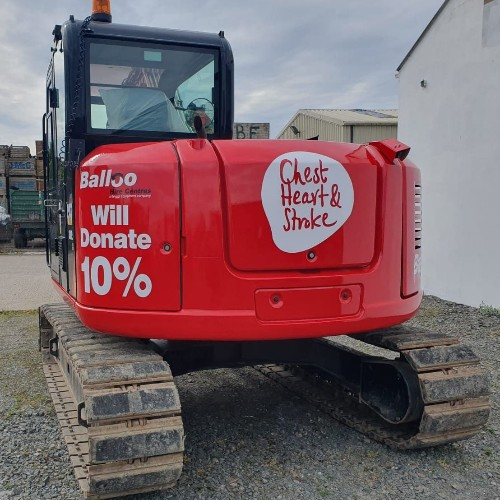 News Item: Balloo Hire Chest Heart and Stroke Charity Digger