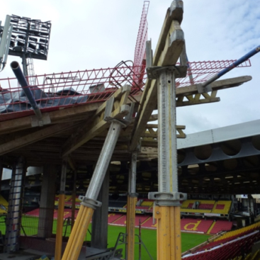 News Item: Company Fined after Worker Paralysed by Fall at Watford Football Stadium
