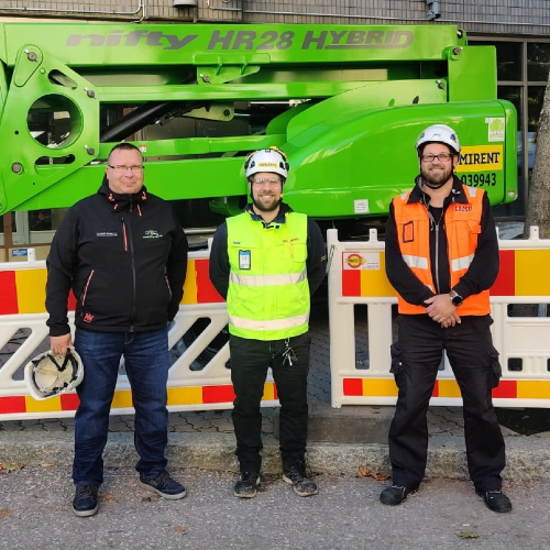 News item: Consti Chooses Niftylift HR28 from Ramirent Finland