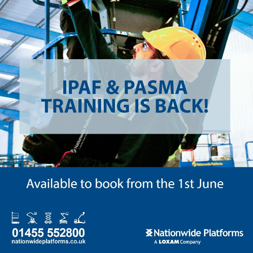 News Item: Europe's Largest IPAF Provider Resumes Training