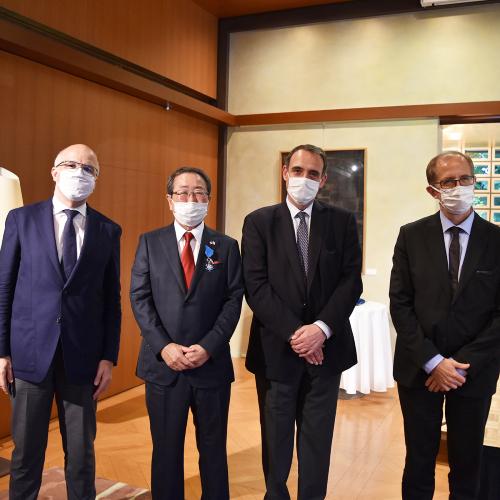 News Item: France Awards the National Order of Merit to Kubota's Chairman Masatoshi Kimata