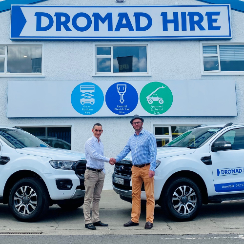 News Item: Irish Equipment Rental Specialists Dromad Hire Add Two Ford Ranger Pick-up Trucks to their Sales Support Network