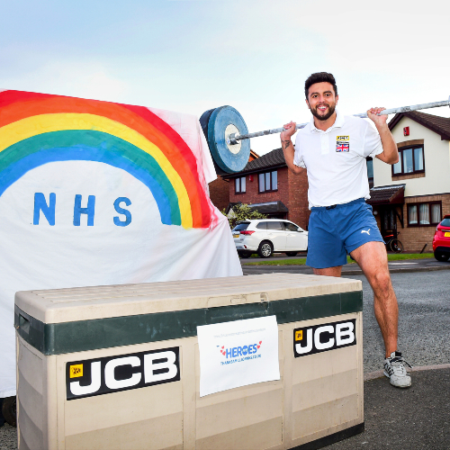 News Item: JCB Sponsored Athletes  Smash NHS Charity Target