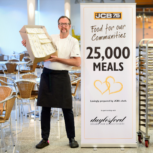 News Item: Milestone JCB Meal Served as Food Aid Initiative Enters Final Month