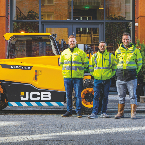 News Item: New JCB Loadall Makes Electric Start with Domis Order