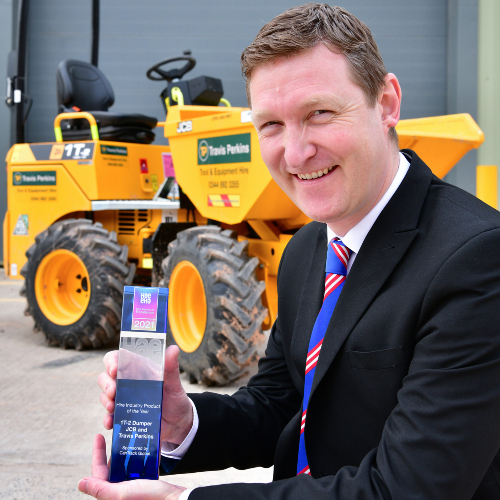 News Item: Safety First as JCB Site Dumper Crowned Hire Product of the Year