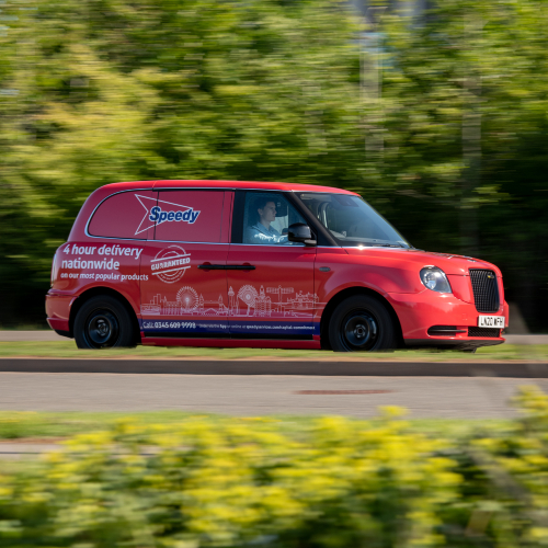 News Item: Speedy Trials Construction's First Electric Taxi Delivery Van