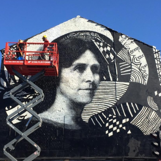 News Item: Star Platforms Provide Powered Access Equipment to Help Bring the Madge Gill Mural to Life