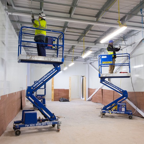 News Item: Star Platforms Provides Low Level Platforms to Data Centre Construction in Farnborough, Hampshire