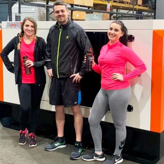 News Item: The Knee Musketeers' - Megan, Bethan and Liam from MHM Plant are Ready to Pound the Pavements For Charity