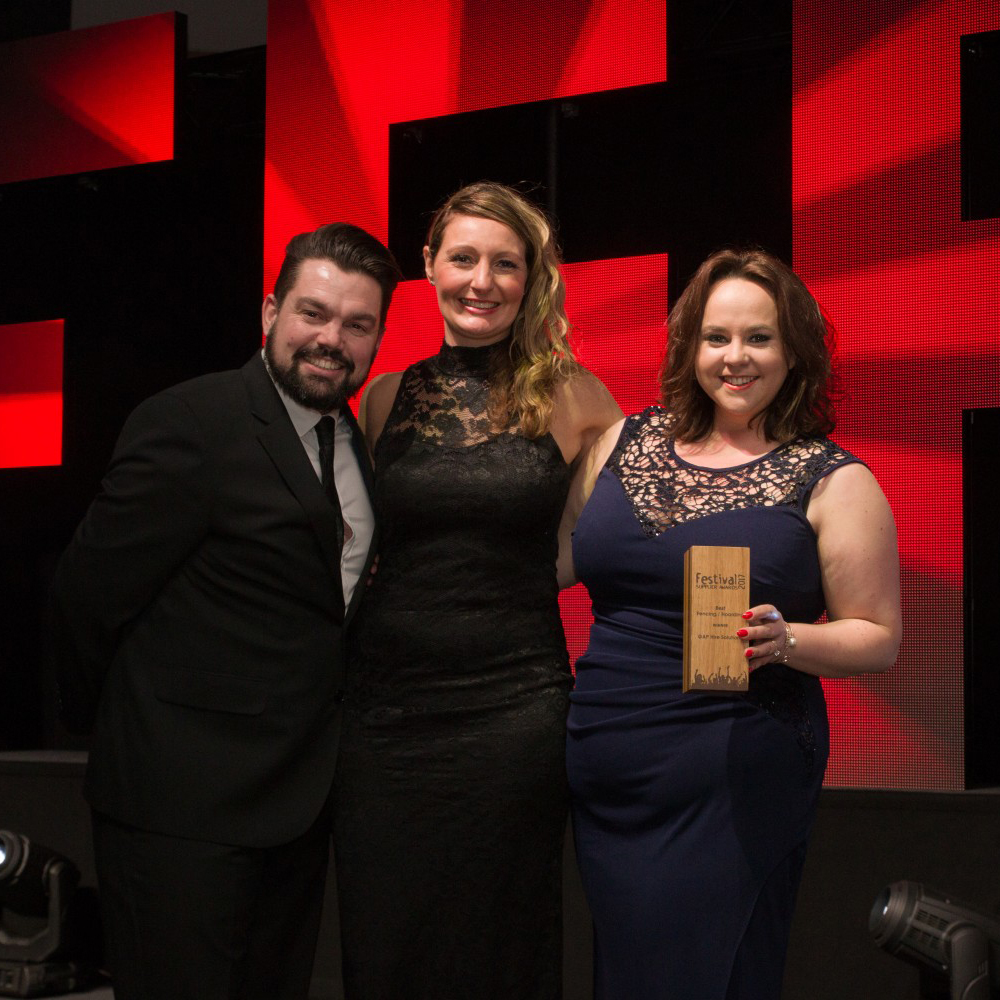 PRESS RELEASE: GAP Event Services Wins Coveted Festival Supplier Award