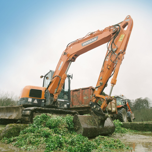 PRESS RELEASE: Hampshire Plant & Access Machine On Site Preparation for Watercress Farm