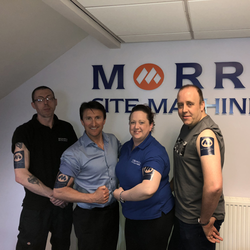 PRESS RELEASE: Tat's The Way as Morris Site Machinery Joins The Tattoo Revolution