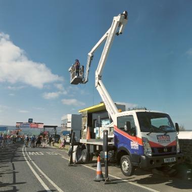 News Item: Wilson Access Truck Mount provides close up views of Tour de Yorkshire